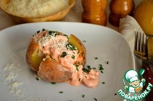Рецепт Запечённый картофель с креветками
