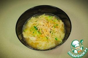 Калькуксу-куриный суп с лапшой вкусный рецепт с фото как приготовить