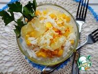 Салат с рисом, кукурузой и ананасом ингредиенты