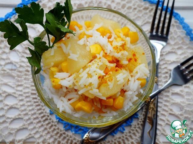 Салат с кукурузой и ананасом рецепты простые и вкусные