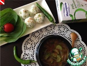 Рецепт Корейский мисо-суп с рисовыми шариками