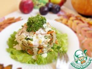 Рецепт Овощной салат с кальмарами
