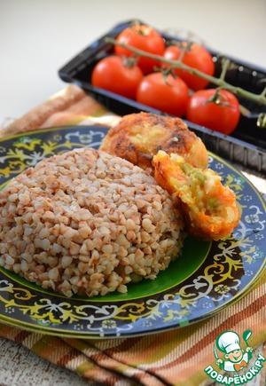 Рецепт Гречневая крупа с вегетарианскими котлетами