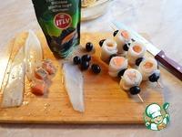 Шашлык из кальмаров и семги с гриль салатом ингредиенты
