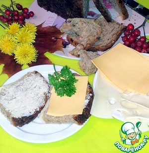 Рецепт Хлеб из ржаной и пшеничной муки с сыром