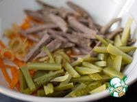 Салат из говядины и осенних овощей ингредиенты