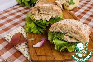 Рецепт Сэндвич с рыбным паштетом