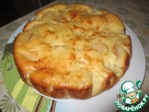 Рецепт Яблочный пирог на сметане