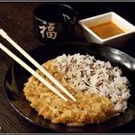 Китайская капуста с медом и рисом