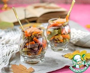 Рецепт Салат из говядины и осенних овощей
