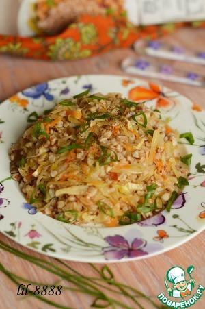 Готовим Гречка с квашеной капустой домашний пошаговый рецепт с фотографиями