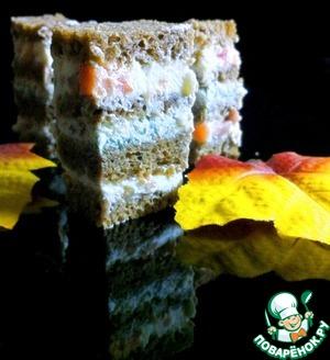 Рецепт Канапе из чёрного хлеба