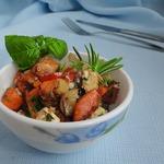 Теплый тыквенный салат с брынзой и тимьяном