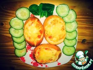 Рецепт Фаршированные булочки с мясом и овощами