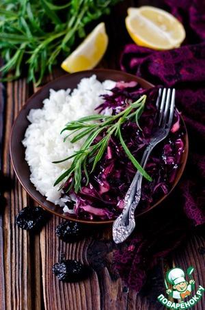 Рецепт Салат из красной капусты с черносливом