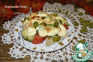 Рецепт Салат овощной с курицей и арахисом