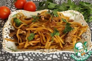Рецепт Салат из редьки с мясом