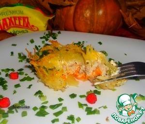 Рецепт Закрытые картофельные тарталетки с рыбой и тыквой