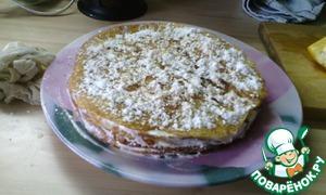 Рецепт Сладкий блинный торт