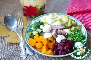 Рецепт Салат из тыквы и консервированного тунца