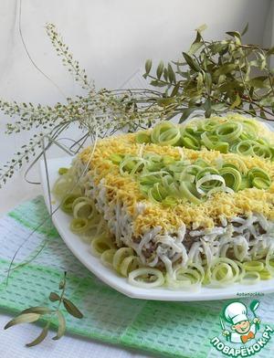 Рецепт Закусочный торт с печеночным кремом