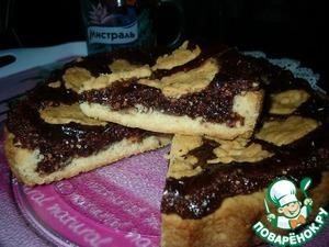 Рецепт Хрустящий пирог с шоколадно-ореховой начинкой