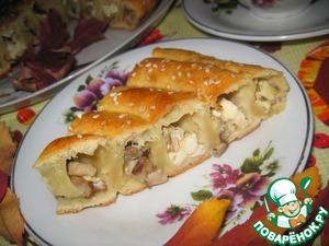 Рецепт Пирог с лесными грибами и брынзой