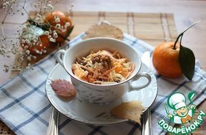 Рецепт Салат с белокочанной капустой и мандаринами