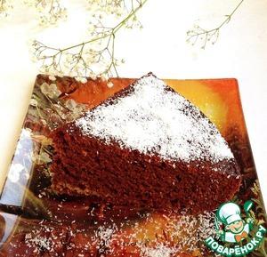 Рецепт Шоколадно-банановый пирог с миндалем