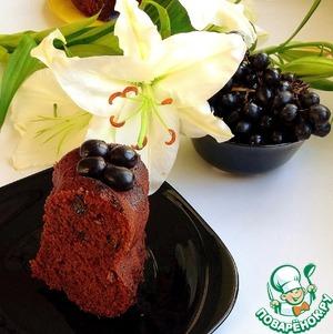 Рецепт Шоколадный пирог с вином и орехами