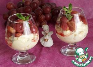Рецепт Грушевый крем с виноградом