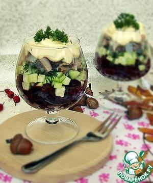 """Рецепт Салат """"Удовольствие"""""""