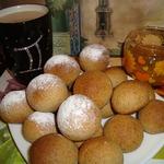 Гречневые пряники с сушеными персиками