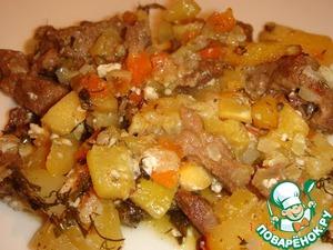 Рецепт Мясо с овощами, запеченное в горшочках