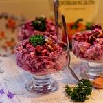 Салат со свеклой и курицей