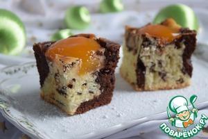 Рецепт Мраморный пирог с абрикосами