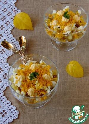 рецепт салат ежик с куриной