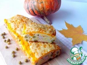 Рецепт Сырный кекс с тыквой и куриным филе