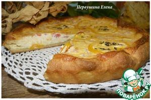 Рецепт Пирог с сырно-творожной начинкой