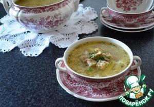 Рецепт Чесночный суп с яйцом и сырными сухариками
