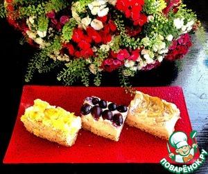 """Рецепт Творожно-маковый тарт с фруктами """"Три желания"""""""