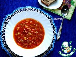Рецепт Чечевичная похлебка с тыквой из мультиварки