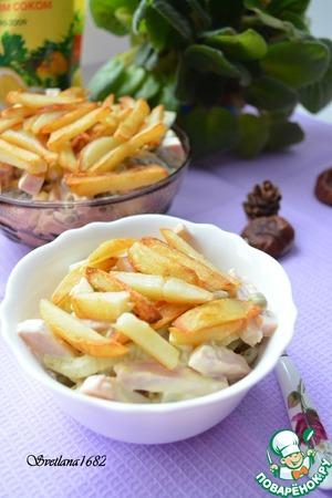 Рецепт Салат с ветчиной и маринованными огурцами