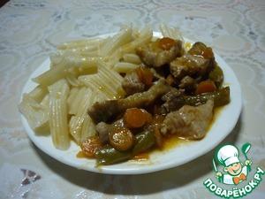 Рецепт Макароны со свининой