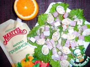 Рецепт Салат с мясом в горчично-апельсиновом соусе