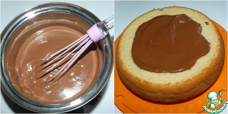 Крем шоколадный для бисквита рецепт пошагово в