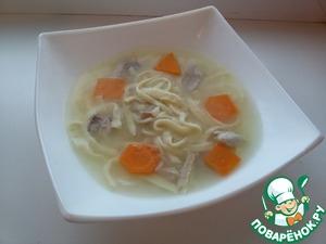 Рецепт Детский геометрический суп с яичной лапшой