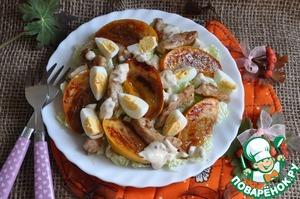 Рецепт Салат с хурмой и курицей