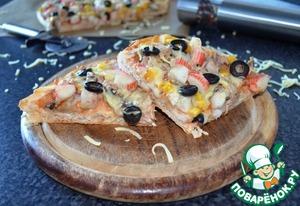 Рецепт Ленивая пицца или открытый пирог