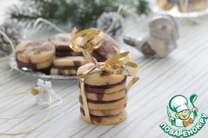 Рецепт Мраморное печенье с шоколадом